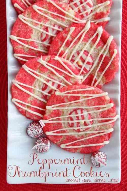 Peppermint Thumbprint Cookies featured in 18 Peppermint Desserts on The Best Blog Recipes