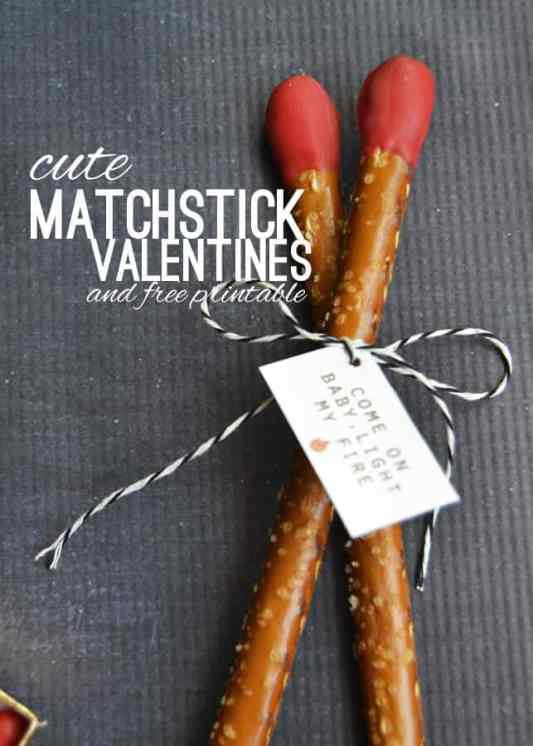 Matchbox Valentine's featured on 25 Valentine's Day Crafts from The Best Blog Recipes