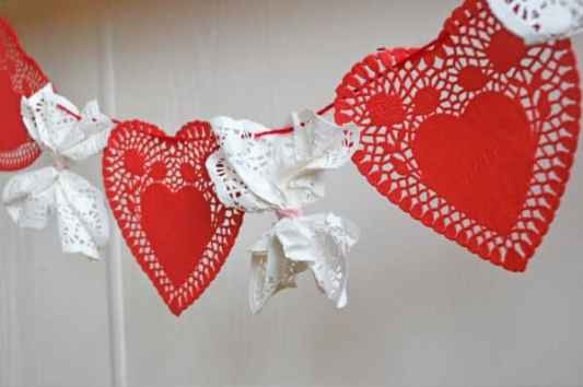 Valentine's Day Doilie featured on 25 Valentine's Day Crafts from The Best Blog Recipes