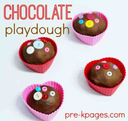Chocolate Valentine Play-dough featured on 25 Valentine's Day Crafts from The Best Blog Recipes