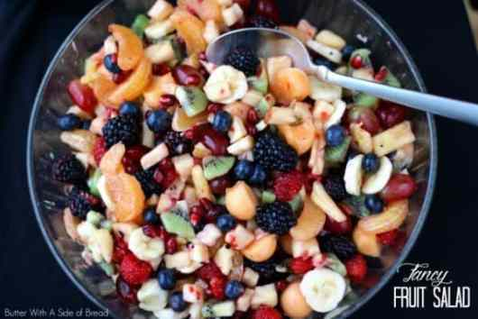 Fancy Fruit Salad featured on 45 Healthier Recipes from The Best Blog Recipes