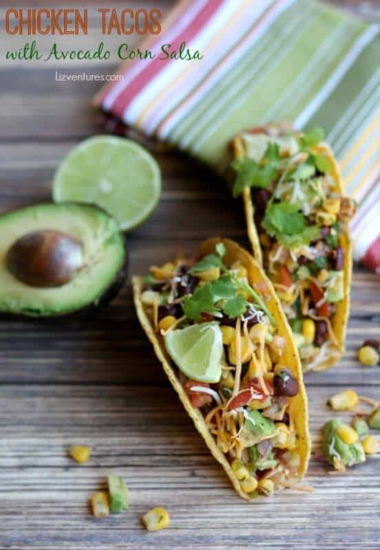Chicken Tacos with Avocado featured on 45 Healthier Recipes from The Best Blog Recipes