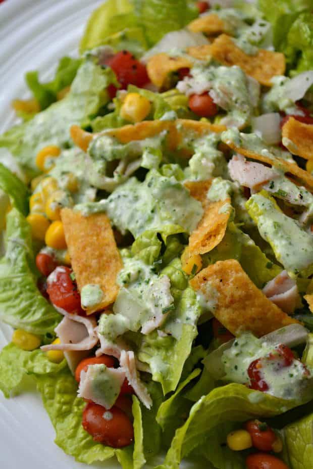 Cilantro Lime Ranch Dressing Salad