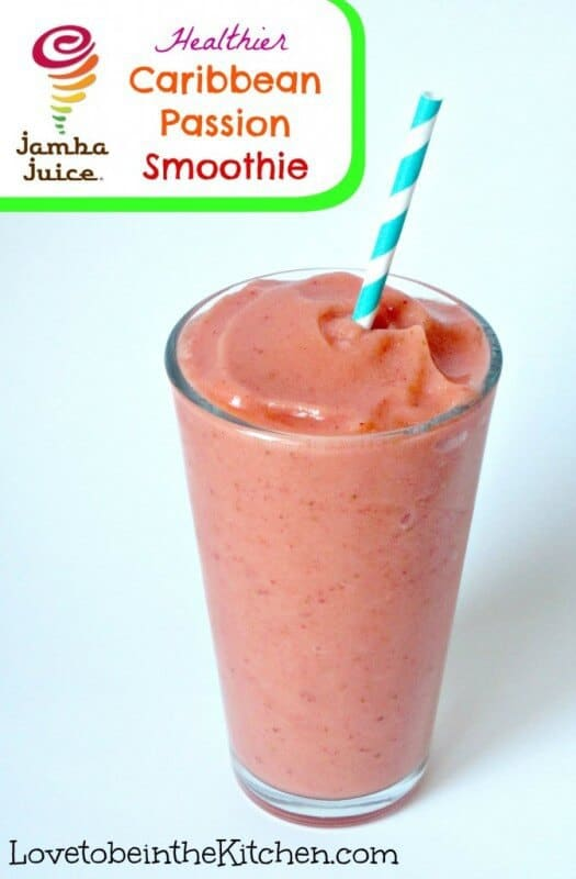 Caribbean Passion Smoothie featured on 45 Healthier Recipes from The Best Blog Recipes