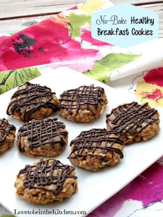 No Bake Healthy Breakfast Cookies featured on 45 Healthier Recipes from The Best Blog Recipes