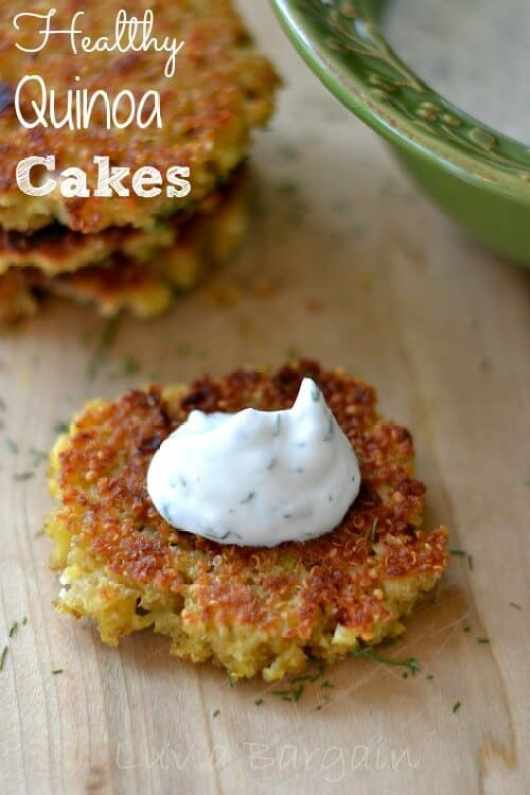 Quinoa Cakes featured on 45 Healthier Recipes from The Best Blog Recipes