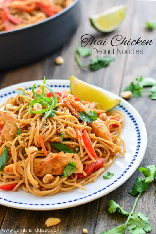 Thai Peanut Noodles featured on 45 Healthier Recipes from The Best Blog Recipes