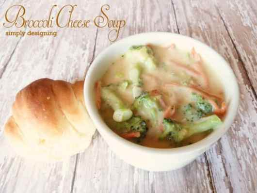 Broccoli Cheese Soup featured on 45 Healthier Recipes from The Best Blog Recipes