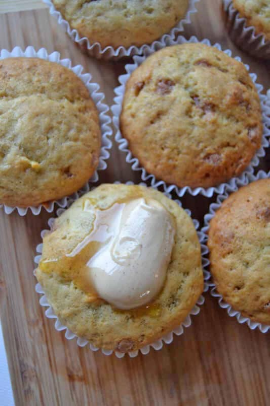 Breakfast Banana Muffins featured on 45 Healthier Recipes from The Best Blog Recipes