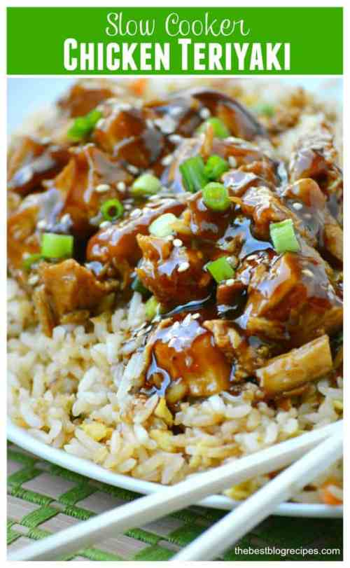 Slow Cooker Chicken Teriyaki featured on 21 of the Best Chinese Recipes from The Best Blog Recipes