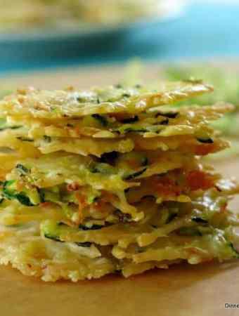 Baked Parmesan Cheese Crisps