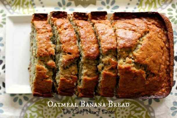 This Oatmeal Banana Bread is so delicious and the perfect addition to your weekend morning breakfast! | Featured on The Best Blog Recipes