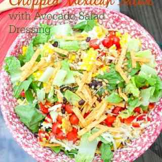 Chopped Mexican Salad with Avocado Salad Dressing