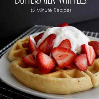 The Best Quick Buttermilk Waffle Recipe