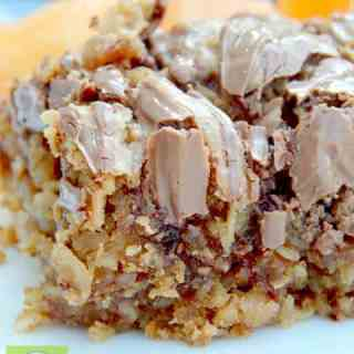 Peanut Butter and Chocolate Swirled Baked Oatmeal
