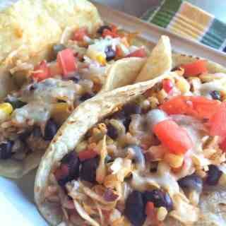 Black Bean, Rice and Vegetable Tacos