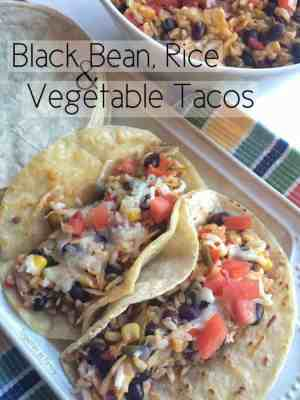 Black Bean & Rice Vegetable Tacos Recipe | Featured on www.thebestblogrecipes.com