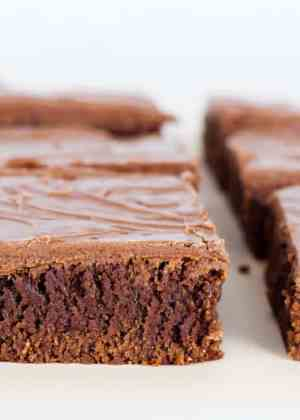 Lunch Lady Brownies -- a tried and true delicious brownie recipe that has been around for more than 50 years!