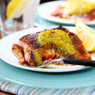 Seared Salmon with Curried Pineapple