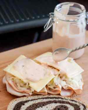 Turkey Reuben Sandwich | Featured on www.thebestblogrecipes.com
