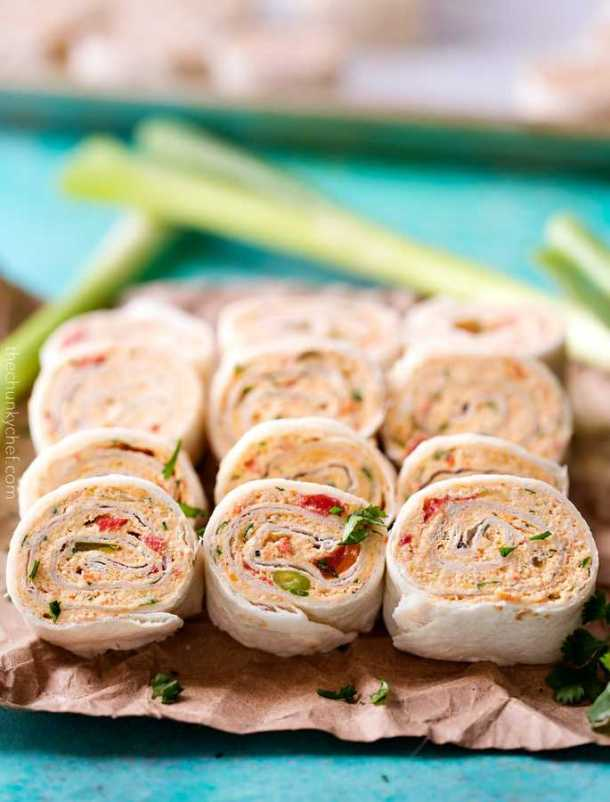Chicken Taco Mexican Pinwheels -- part of The Best Pinwheel Recipes