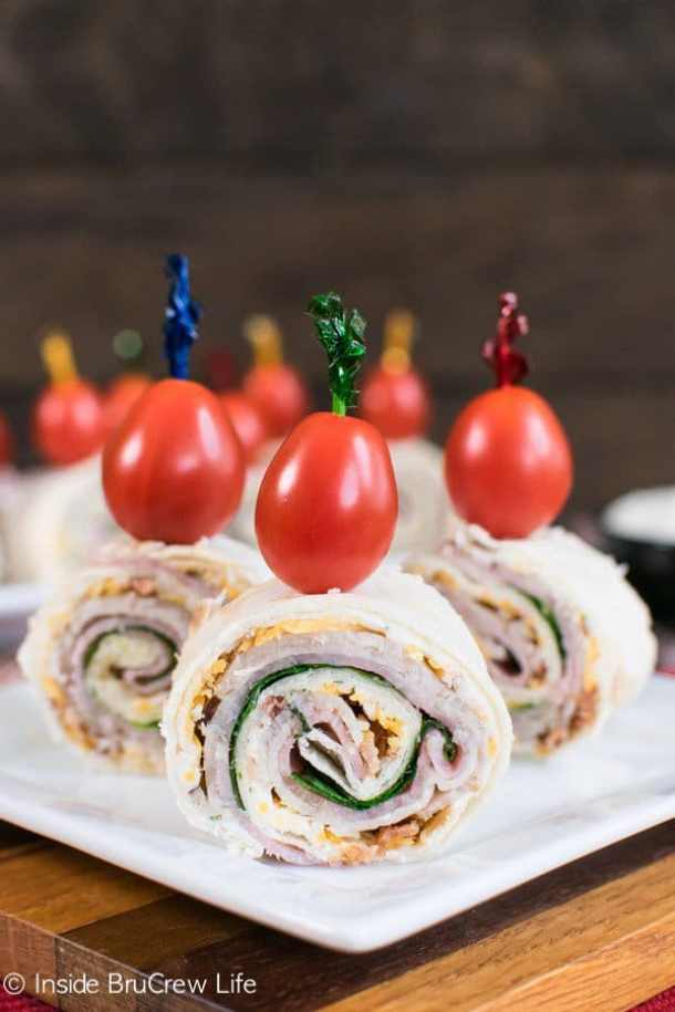 Turkey Club Pinwheels -- part of The Best Pinwheel Recipes