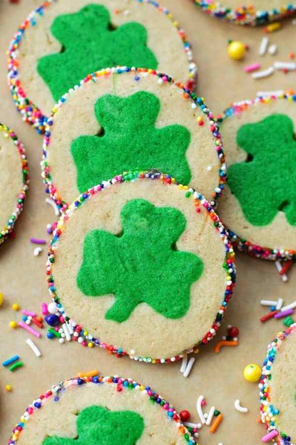 Slice and Bake Clover Cookies -- Part of The Best St. Patrick's Day Recipe