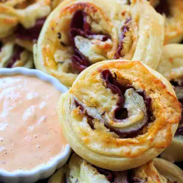 Reuben Pinwheels -- part of The Best Pinwheel Recipes