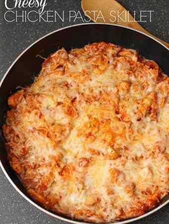Cheesy Chicken Pasta Skillet