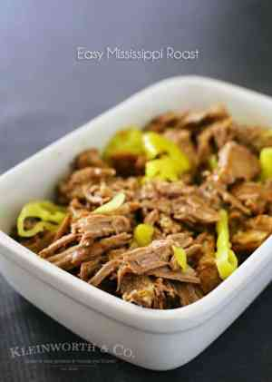 Easy family dinner ideas get even better when you add crockpot recipes like this Easy Mississippi Roast to the menu. Just toss & go for an AMAZING meal that the whole family will love.
