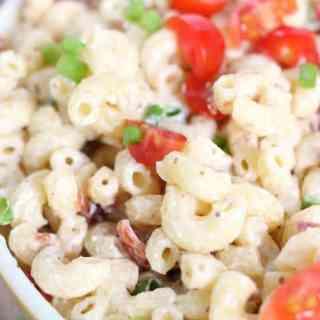 Lemon Dijon Bacon Pasta Salad