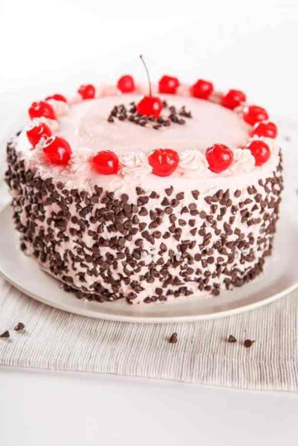 Cherry Chocolate Chip Cake -- Part of the Valentines Day Dessert