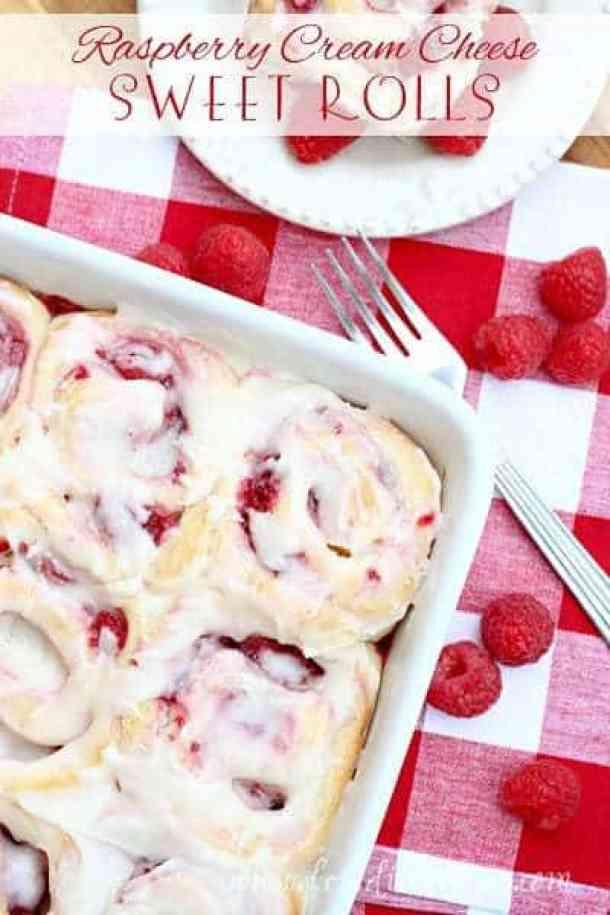 10. Raspberry Cream Cheese Sweet Rolls-- Part of 30 The Best Breakfast Sweet Rolls Recipes