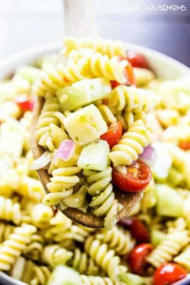 ITALIAN PESTO PASTA SALAD -- 19+ PASTA SALADS TO BRING SUMMER BACK INTO YOUR LIFE