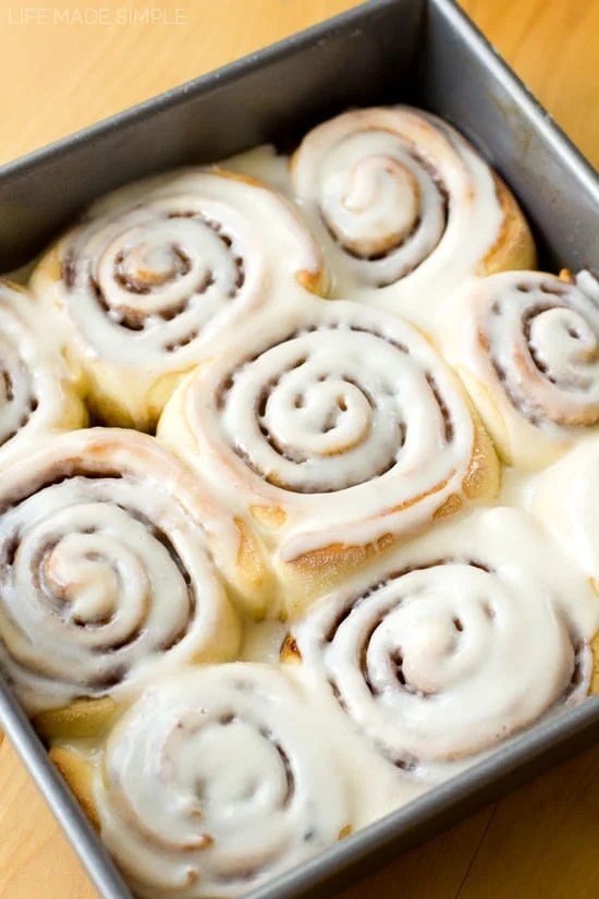 There's nothing better than a warm, gooey cinnamon roll covered in a sweet layer of vanilla icing… especially when they require only 60 minutes to make! These 1 hour cinnamon rolls are not only quick and easy, but they taste just as amazing,if not better, than any other cinnamon roll!