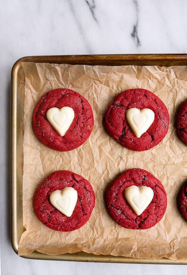 Red Velvet Sugar Cookies -- Part of the Valentines Day Dessert