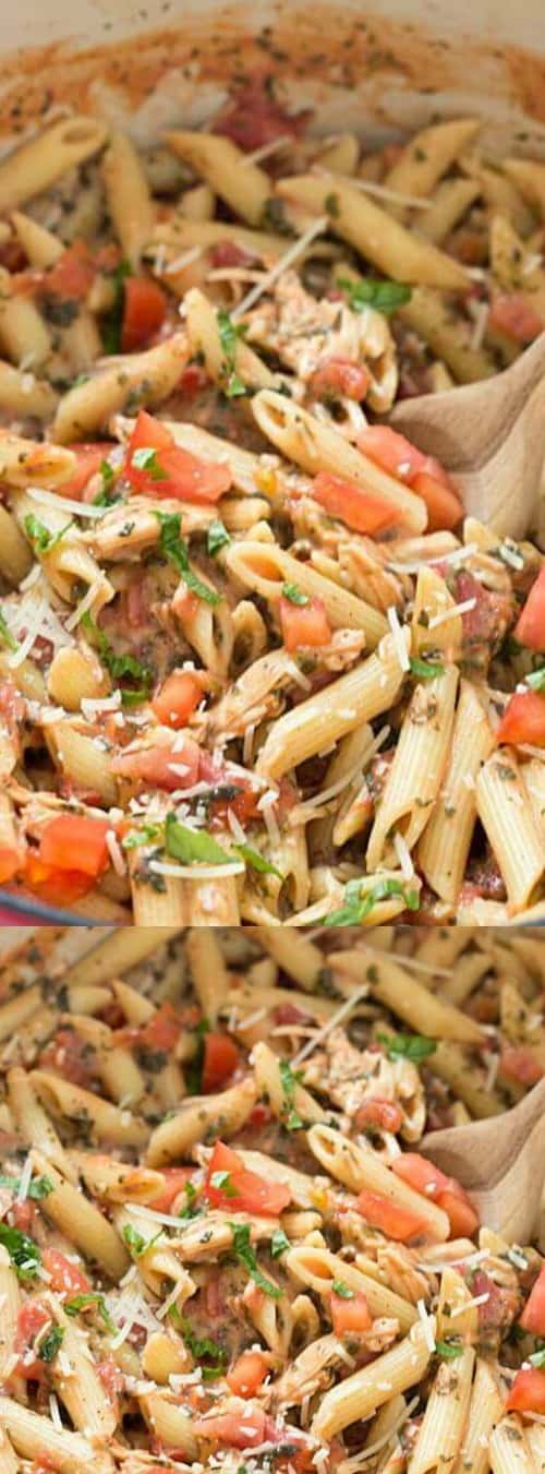20-minute tuscan chicken penne pasta