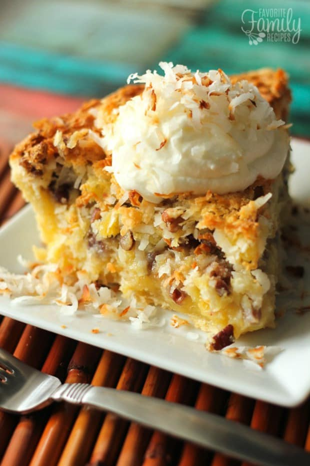 This Island Pecan Pie recipe comes from a famous pie diner in Arkansas. It is loaded with pineapple, coconut, and pecans in a delicious creamy filling.