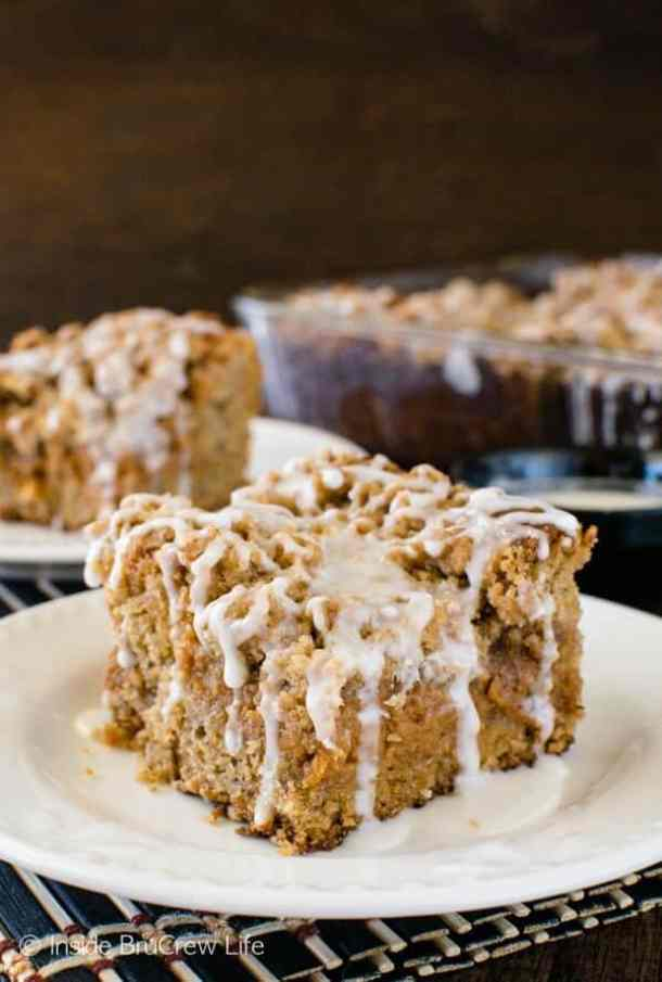 Banana Caramel Coffee Cake -- Part of our 18 Recipes that prove that CARAMEL and BANANAS were meant to go together!