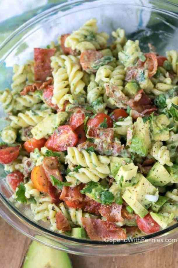 AVOCADO PASTA SALAD -- 19+ PASTA SALADS TO BRING SUMMER BACK INTO YOUR LIFE