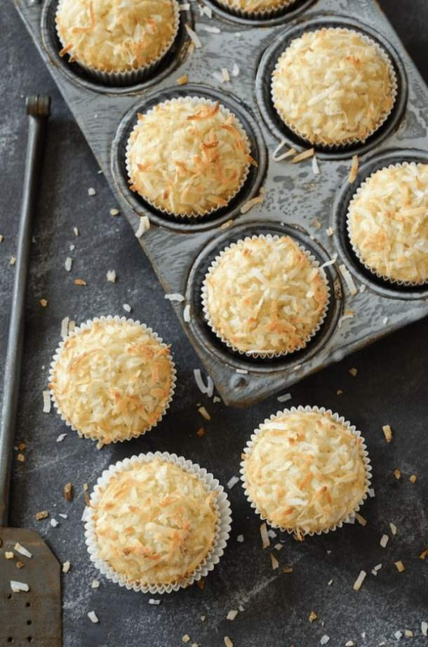 COCONUT BANANA CRUNCH MUFFINS--31+ COCONUT DESSERTS THAT WILL SATISFY YOUR SWEET TOOTH!