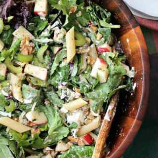 Apple and Celery Pasta Salad with Light Caesar Dressing