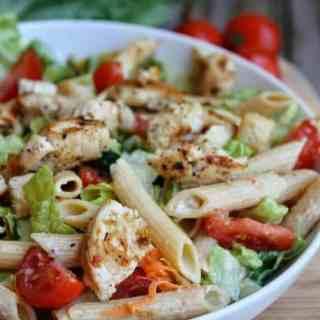 Easy Chicken Caesar Pasta Salad