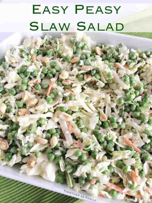 Easy Peasy Slaw Salad -- part of The Best Picnic and Potluck Recipes