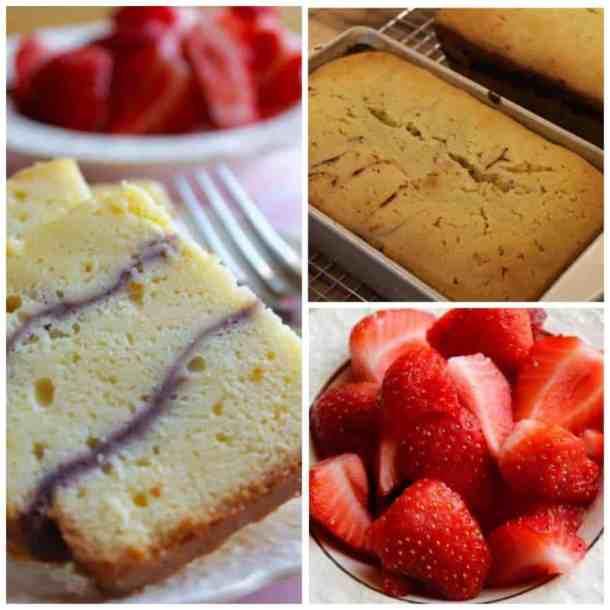 Fresh Strawberry Cream Cheese Pound Cake