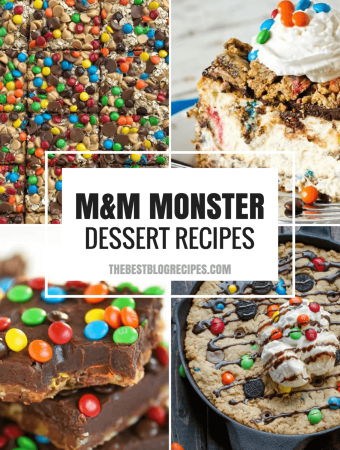 M&M Monster Dessert Recipes that your kids will love!