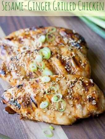 Sesame Ginger Grilled Chicken
