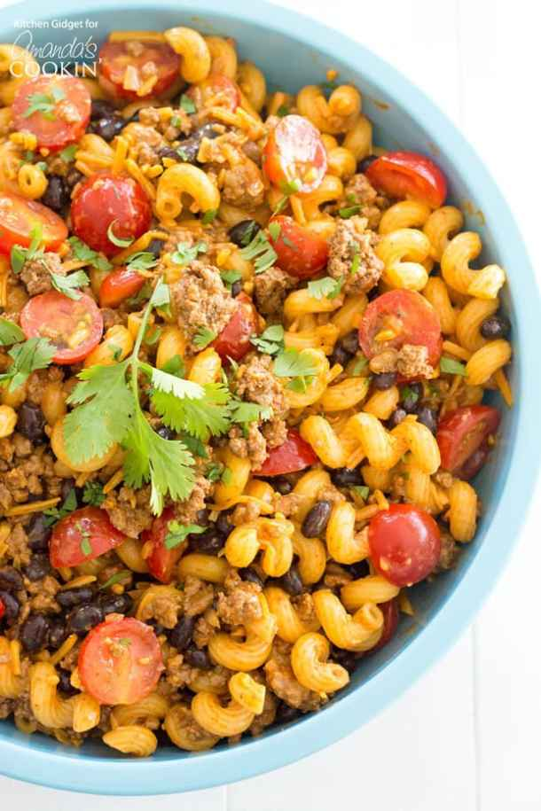 Taco Pasta Salad -- Part of our 19+ PASTA SALADS TO BRING SUMMER BACK INTO YOUR LIFE!