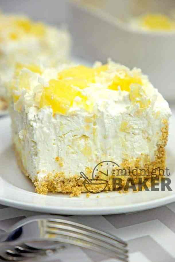 No-Bake Pineapple Cream Dessert-- Part of 30 Pineapple Recipes for your Sweet Summertime Cravings