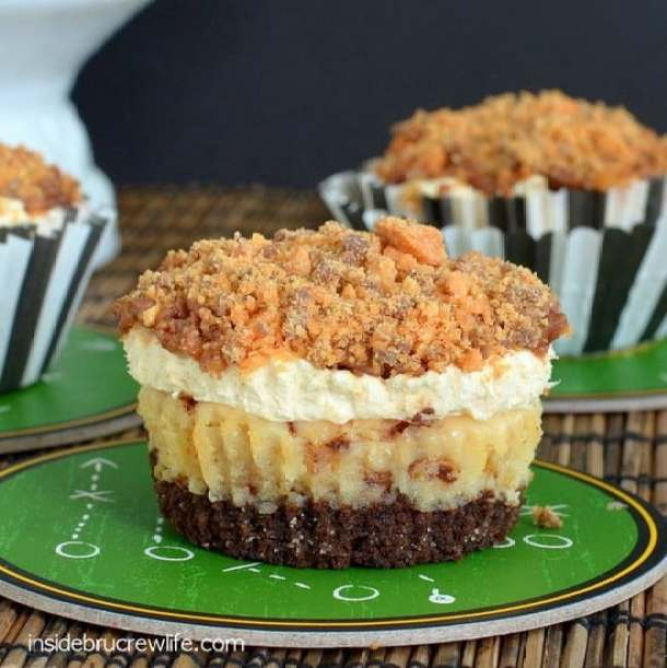 utterfinger Mousse Cheesecakes -- Part of The Best Butterfinger Recipes